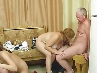 big tits old & group sex